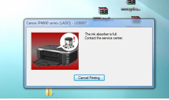 Penanganan error Ink Absorber Full pada printer Canon